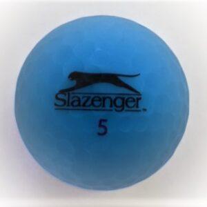 Slazenger Matte finish blue golf ball