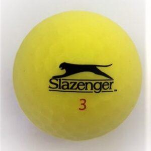 Slazenger Matte finish yellow golf ball